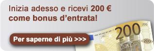 Bonus di entrata di 200 euro